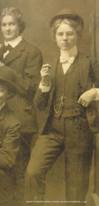 1800s women bow tie