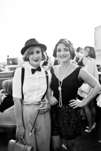 lady in bow tie and flapper