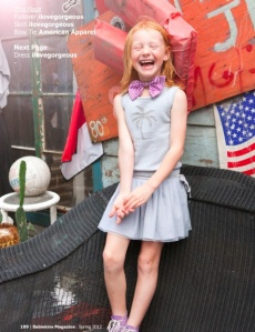 laughing girl bow tie