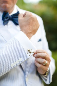 skull cuffling and bow tie