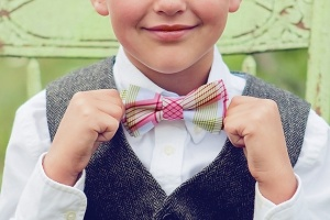 smiling boy bow tie