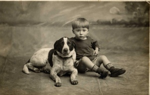 Boy-and-Dog-Vintage-1950s